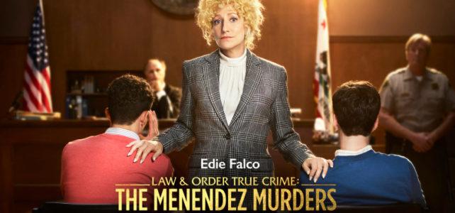L & O True Crime MENENDEZ Edie Falco KEY ART