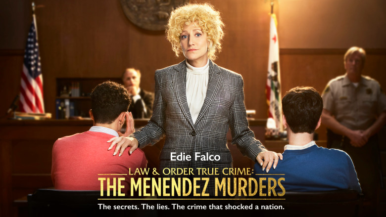 L & O True Crime MENENDEZ Edie Falco KEY ART