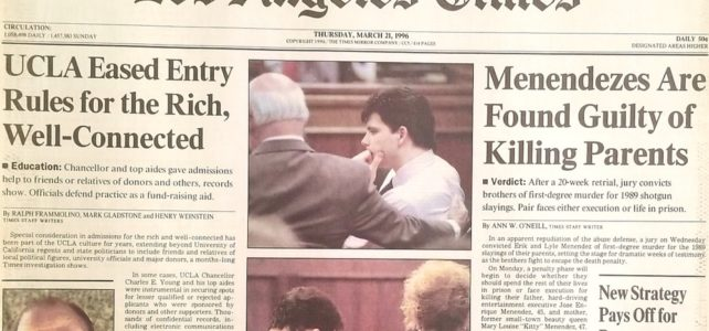 The Menendez Brothers' conviction was a miscarriage of justice