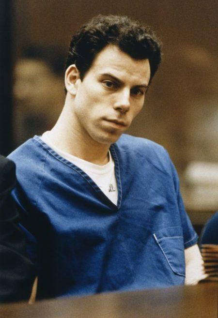 Erik Menendez in prison jump suit 1994